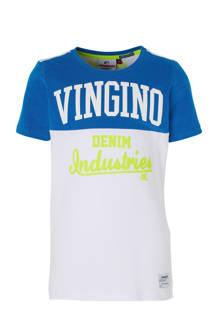 T-shirt Hermany met tekst wit/hardblauw