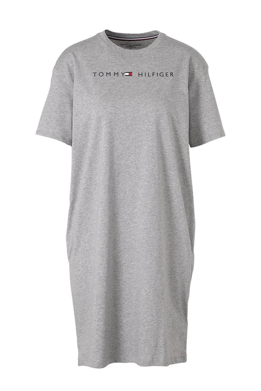 Tommy Hilfiger nachthemd grijs melee, Grijs melee