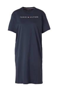 Tommy Hilfiger nachthemd met printopdruk donkerblauw, Donkerblauw