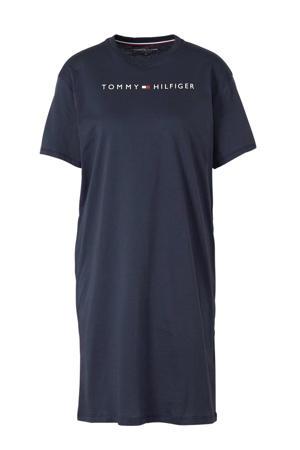nachthemd met printopdruk donkerblauw
