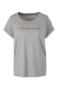 Tommy Hilfiger T-shirt met printopdruk grijs melee, Grijs melee