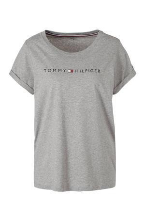 T-shirt met printopdruk grijs melee