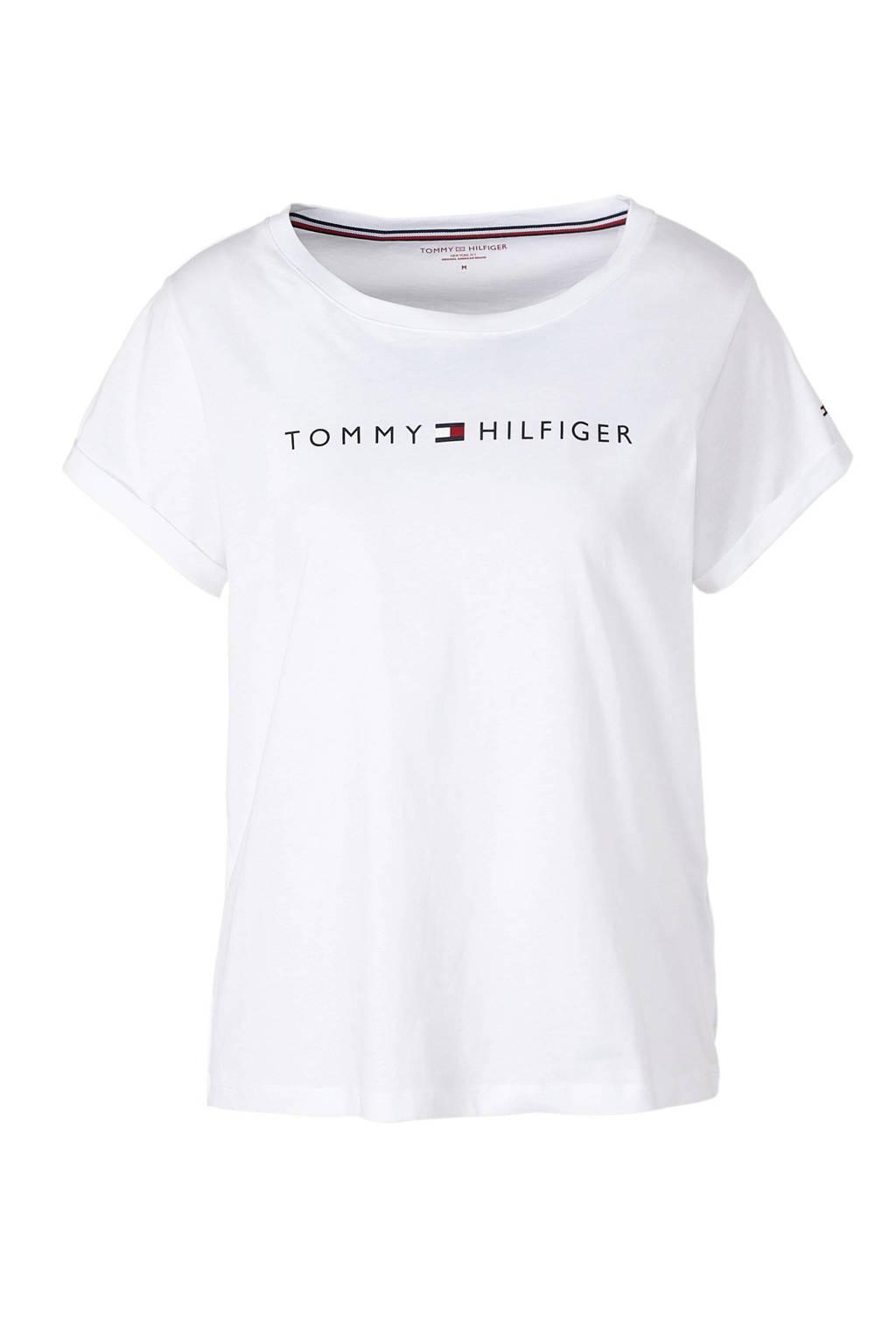 Tommy Hilfiger T-shirt met printopdruk wit, Wit