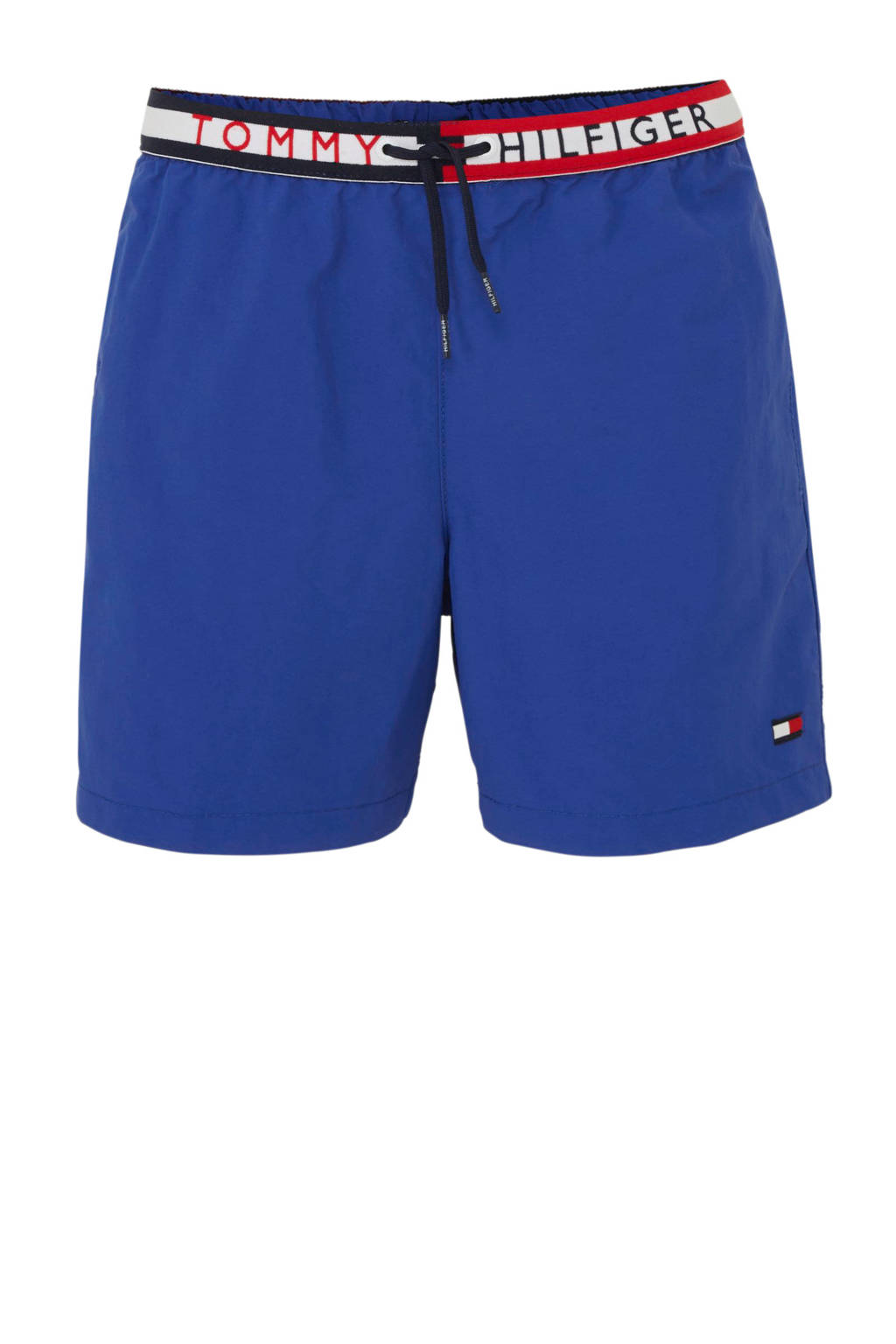 Tommy Hilfiger zwemshort met merknaam blauw, Blauw