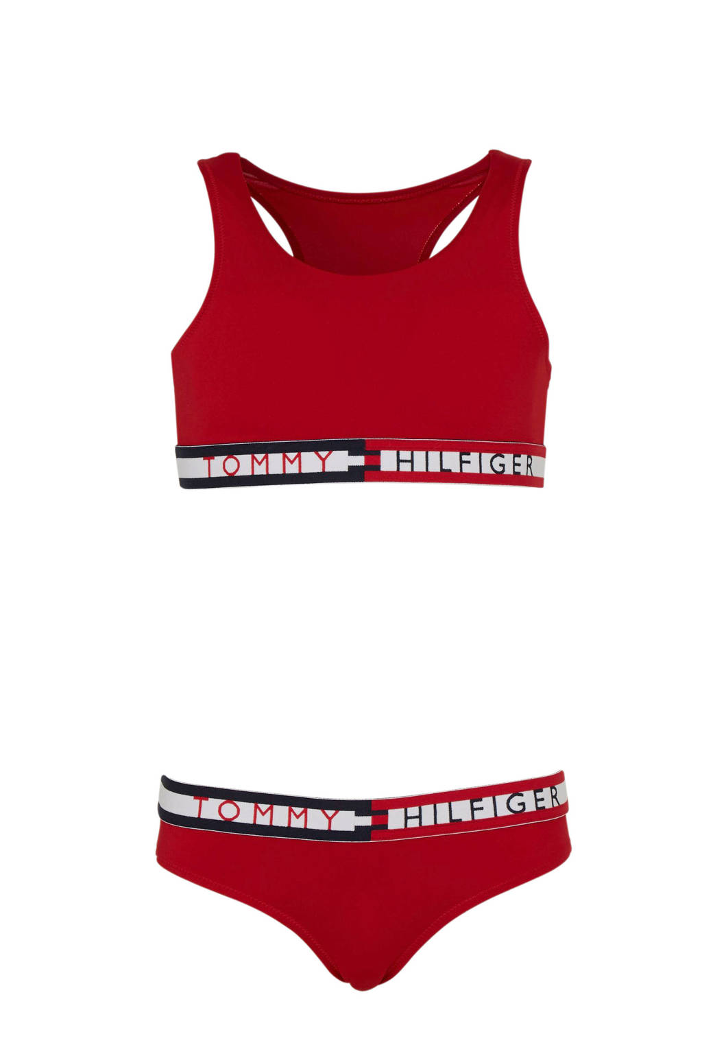 Tommy Hilfiger bikini met merknaam rood, Rood