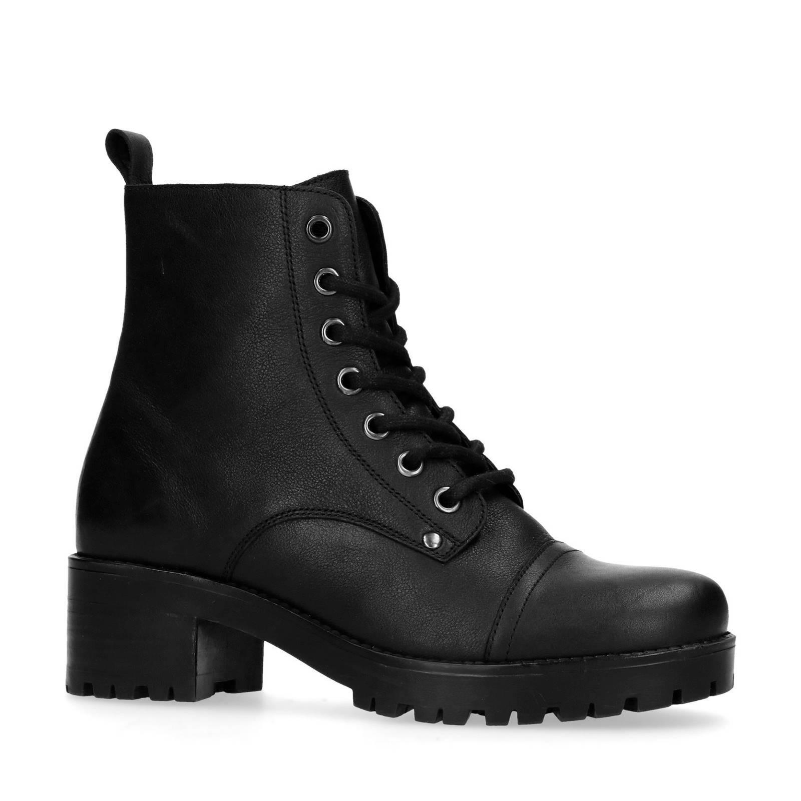 goedkope zwarte leren laarzen