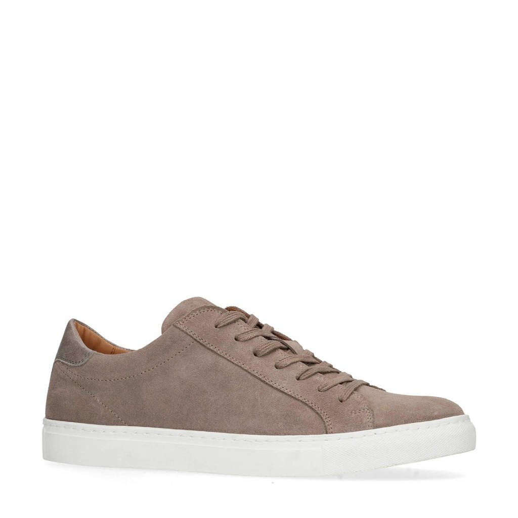 Manfield  suède sneakers taupe, Taupe