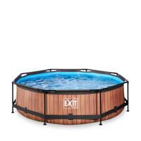 EXIT Frame Pool ø300x76cm houtbruin, Bruin