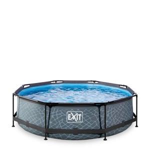 Frame Pool ø300x76cm grijs