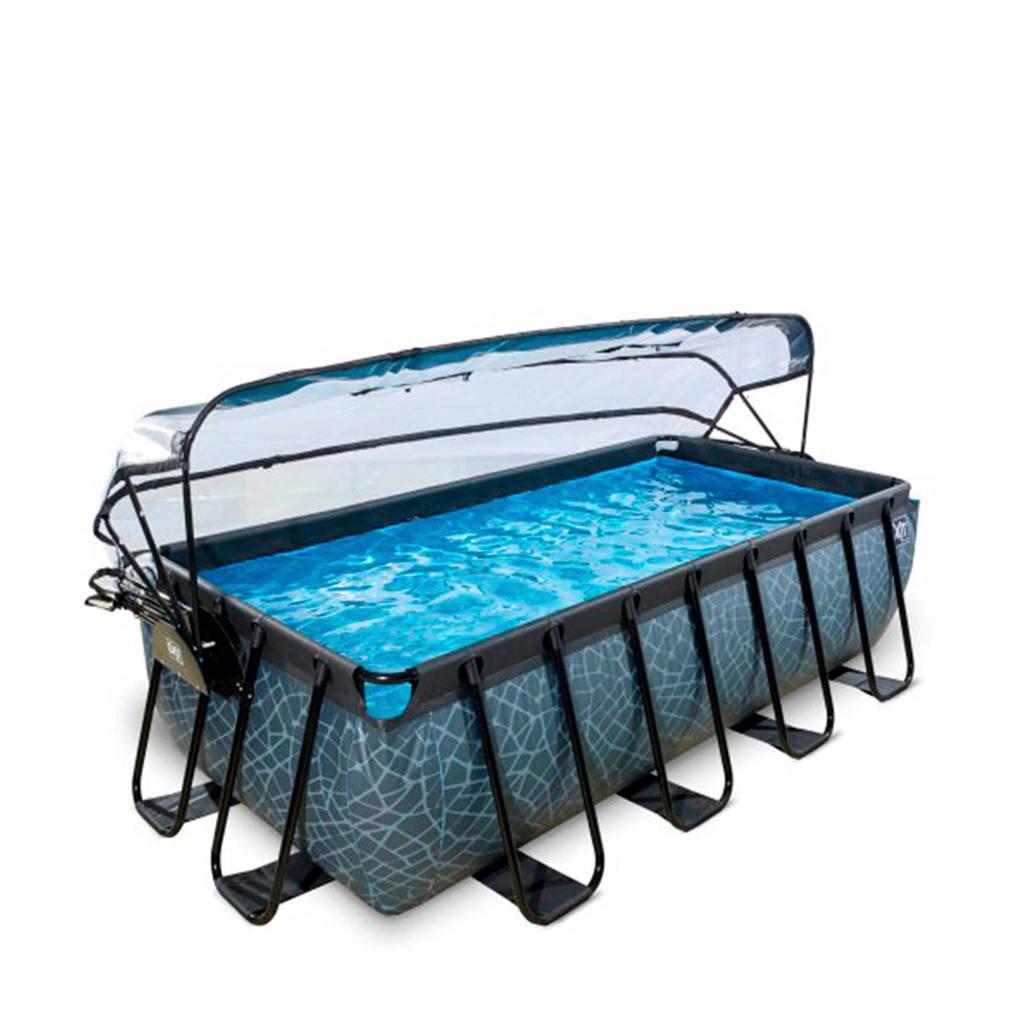 EXIT Frame Pool 4x2x1m grijs met overkapping