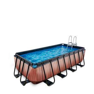 Frame Pool 4x2x1m Premium houtbruin