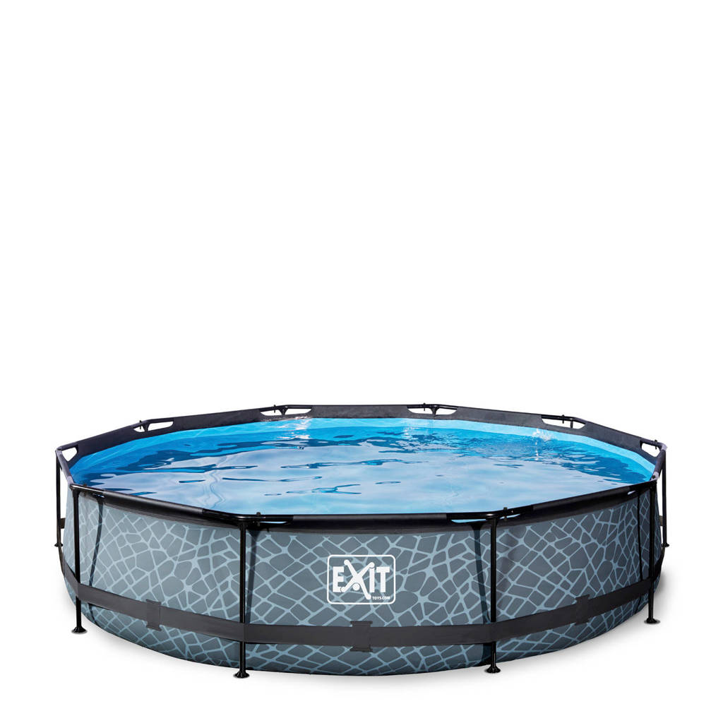 EXIT Frame Pool ø360x76cm grijs, Grijs