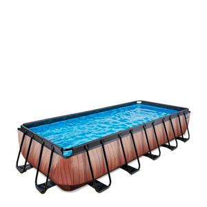 Frame Pool 5.4x2.5x1m houtbruin