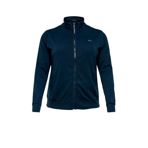 Only Play Curvy sportvest donkerblauw
