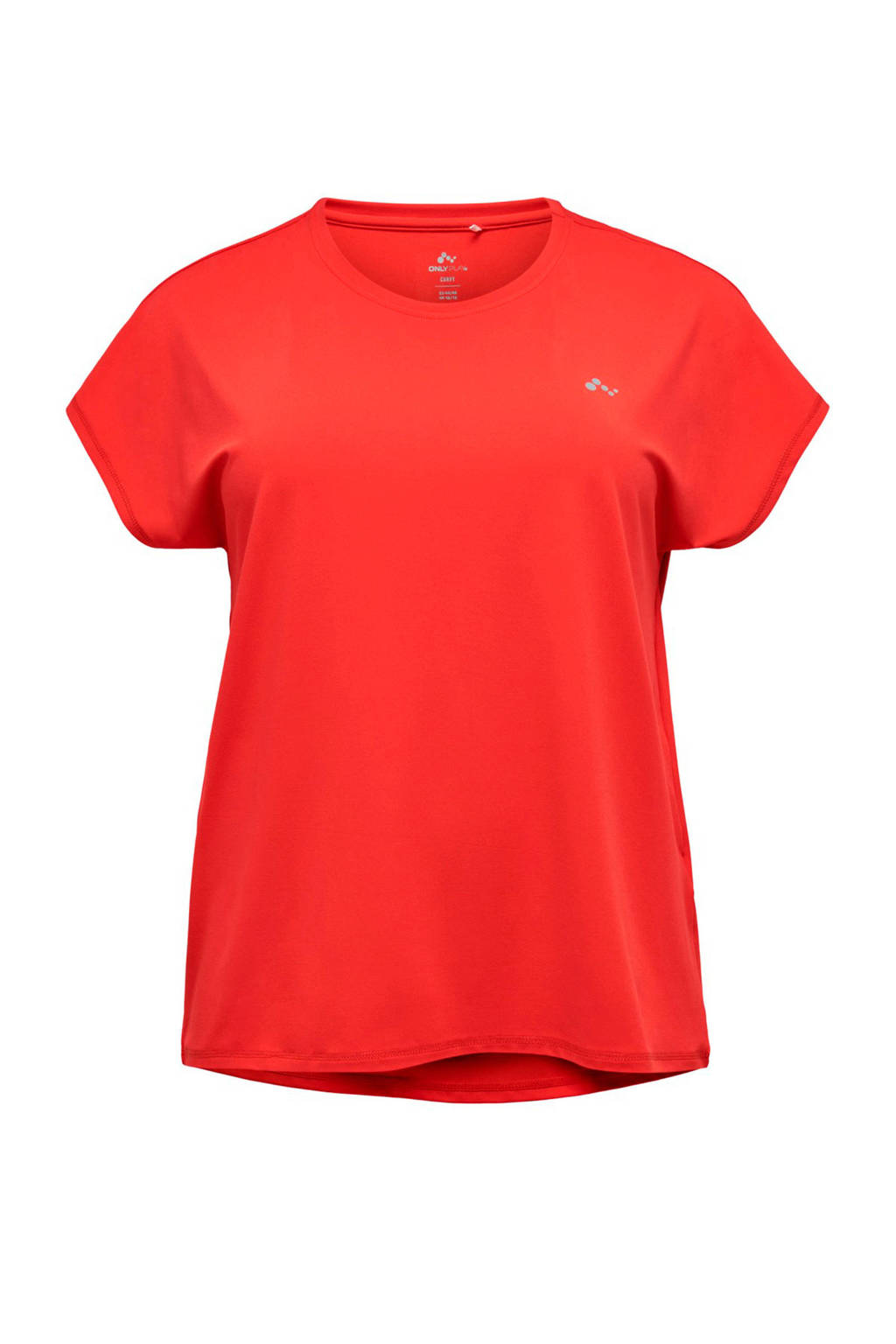 Only Play Curvy sport T-shirt koraalrood, Koraalrood