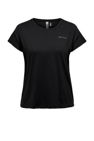 Plus Size sport T-shirt ONPAUBREE zwart