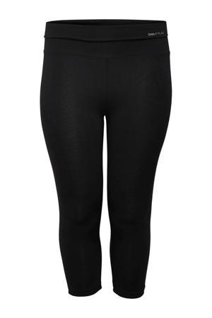 Plus Size sportcapri ONPFOLD zwart
