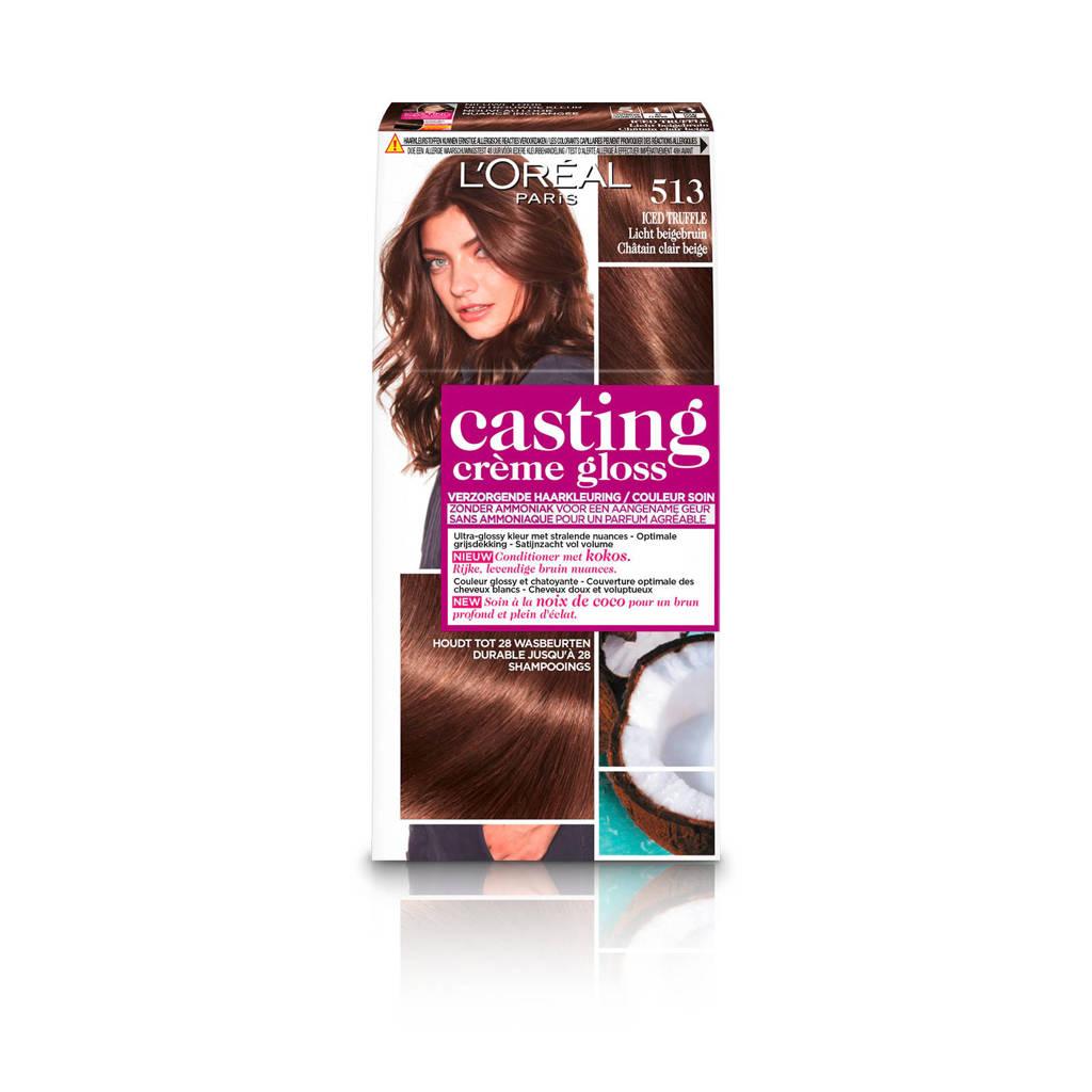 L'Oréal Paris Casting Crème Gloss haarkleuring - 513 Licht beigebruin