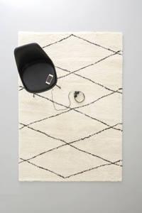 Wehkamp Home vloerkleed  (230x160 cm), Crème, Zwart