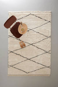 whkmp's own vloerkleed  (230x160 cm), Crème/zwart