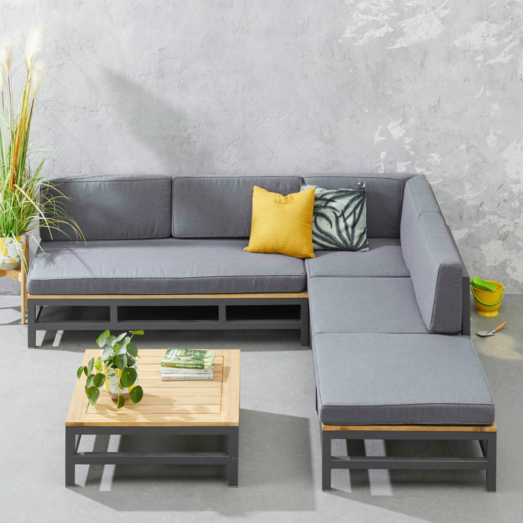 whkmp's own loungeset Betis, Antraciet/Naturel