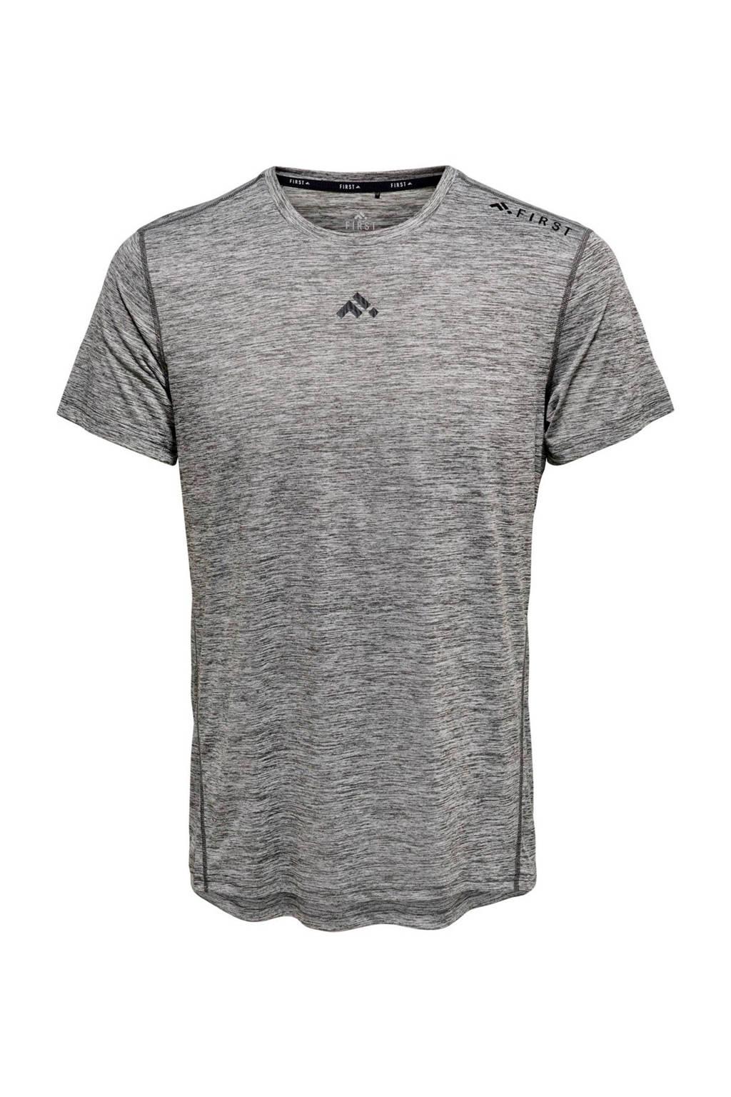 FIRST   sport T-shirt grijs, Grijs