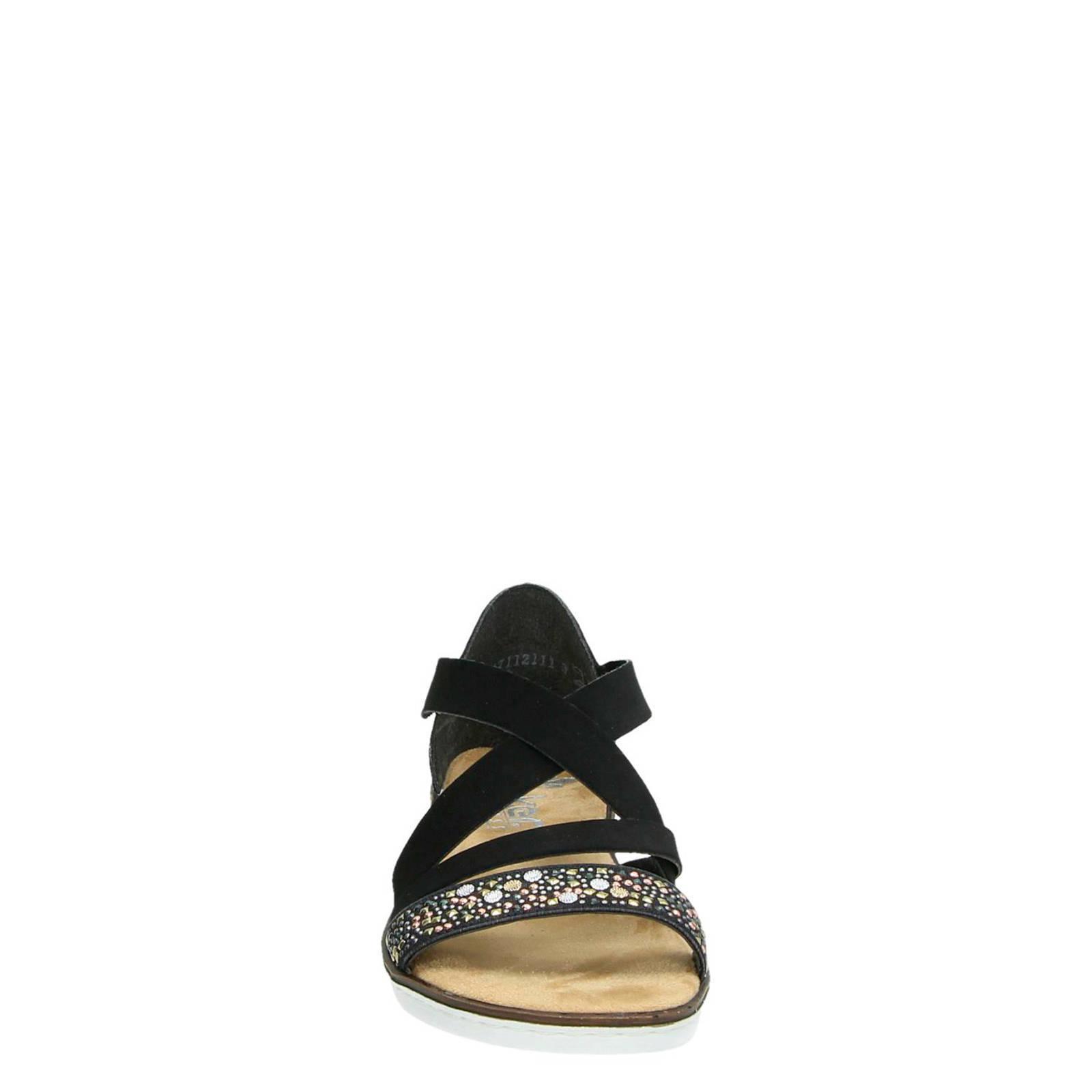 Rieker sandalen zwart | wehkamp