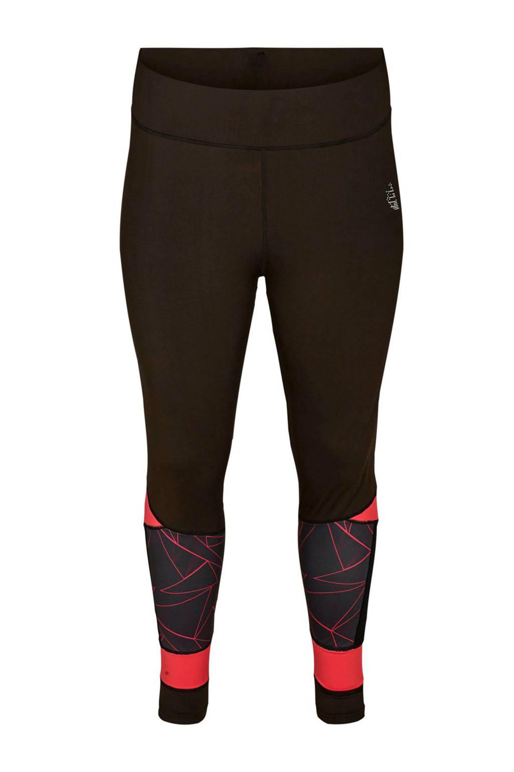 ACTIVE By Zizzi sportbroek zwart/roze, Zwart