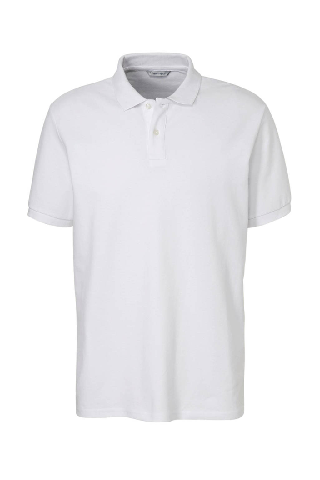 C&A Angelo Litrico regular fit polo van biologisch katoen wit, Wit