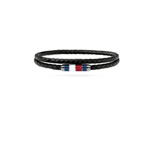 Tommy Hilfiger leren armband TJ2790056 zwart