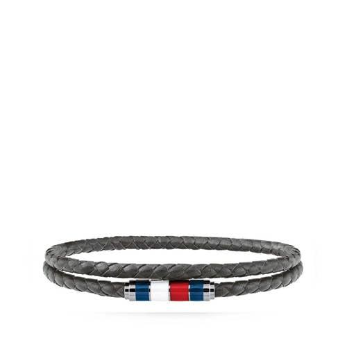 Tommy Hilfiger leren armband TJ2790057 grijs
