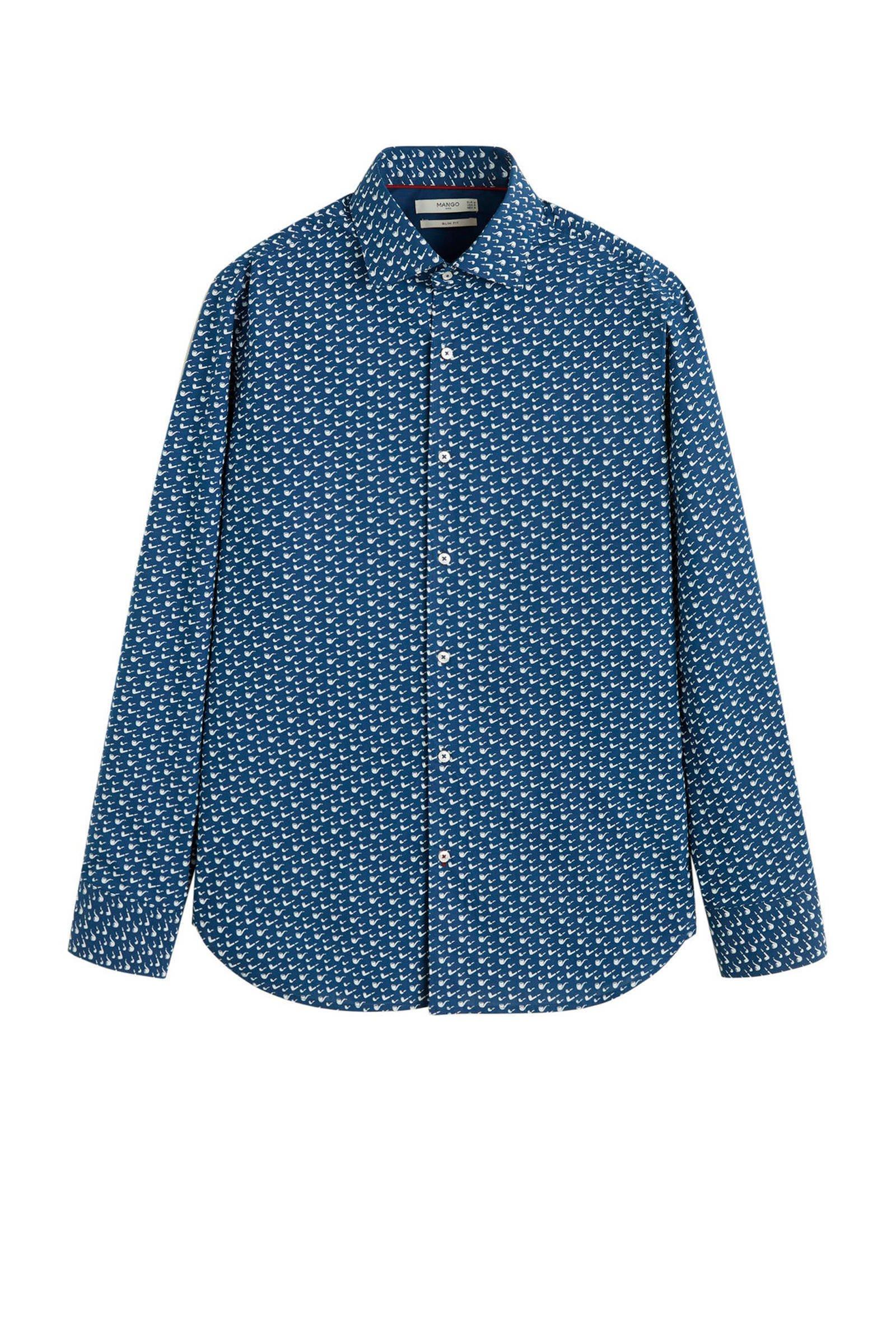 Mango Man slim fit overhemd   wehkamp