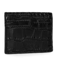 Sacha portemonnee crocoprint zwart, Zwart