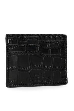 portemonnee crocoprint zwart