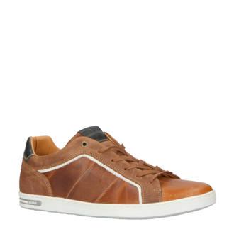 Callum M leren sneakers bruin