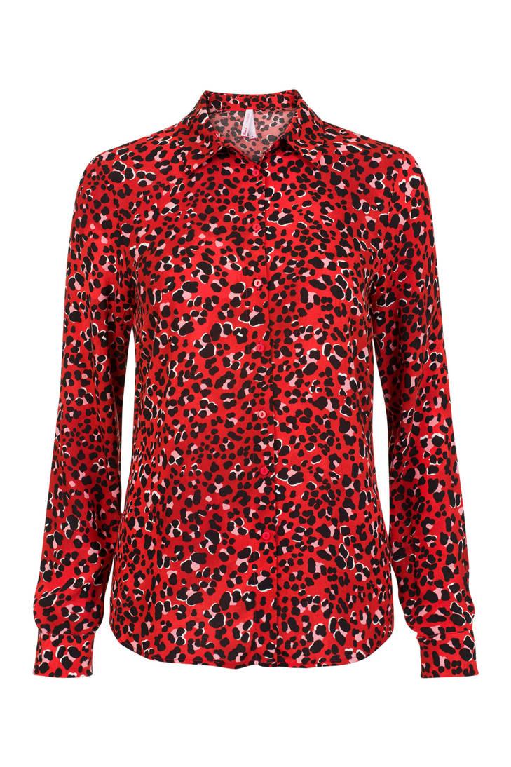 rood met Etam Regulier dierenprint blouse Miss APXqSx