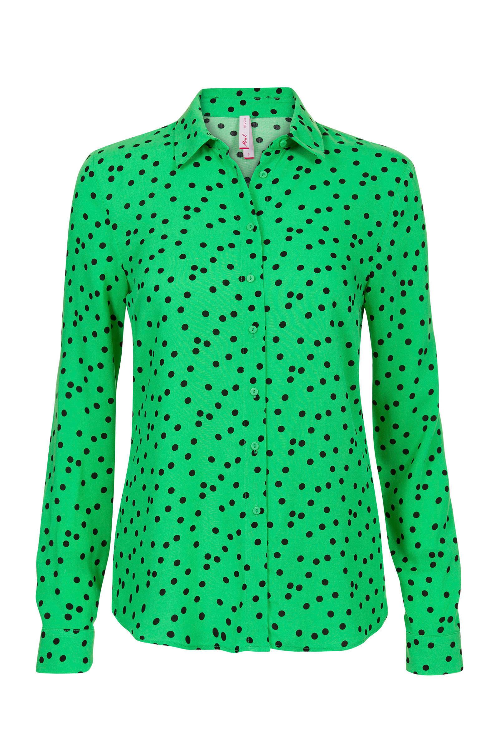 groene dames blouse