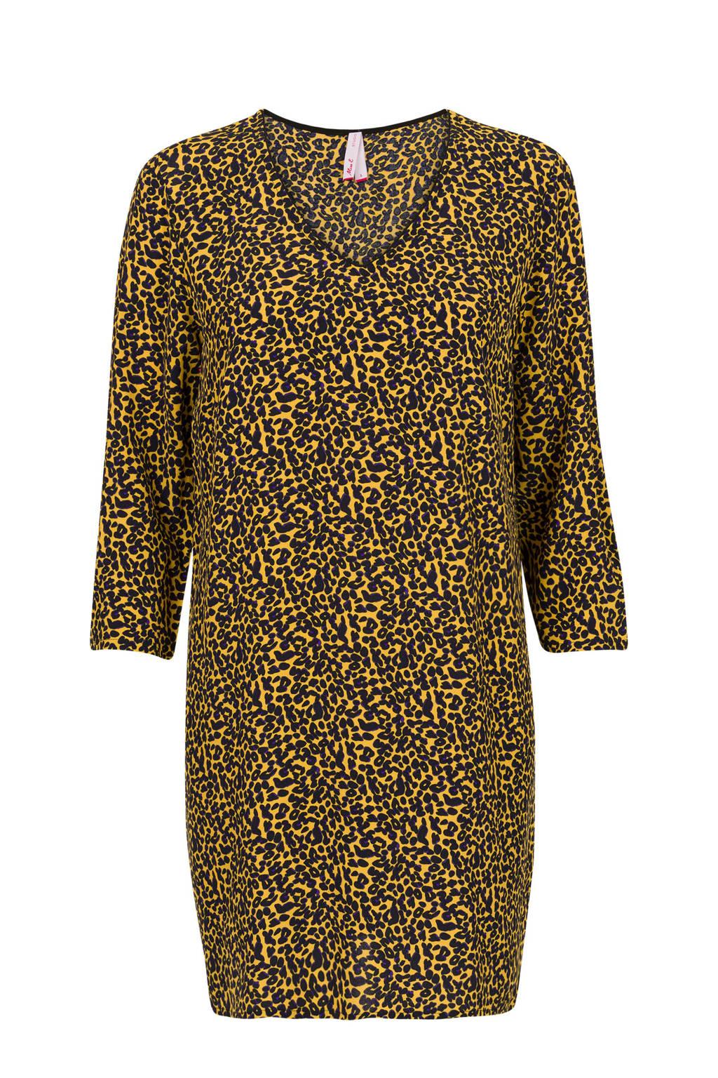 Miss Etam Regulier tuniek met panterprint geel, Geel