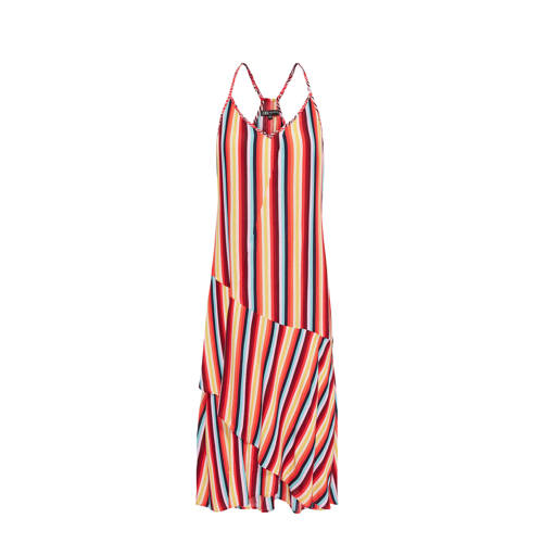 Didi gestreepte jurk met smalle verstelbare bandjes