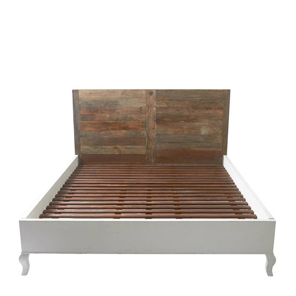 Riviera Maison bed Driftwood  (180x200 cm), Hout, wit