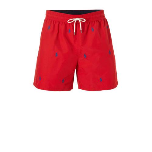 POLO Ralph Lauren zwemshort met borduur print rood kopen