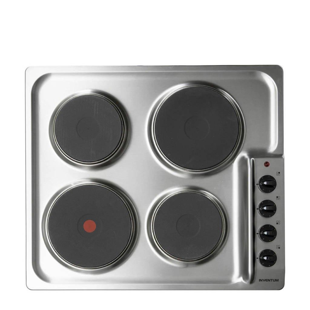 Inventum IKE6010RVS elektrische inbouw kookplaat, -