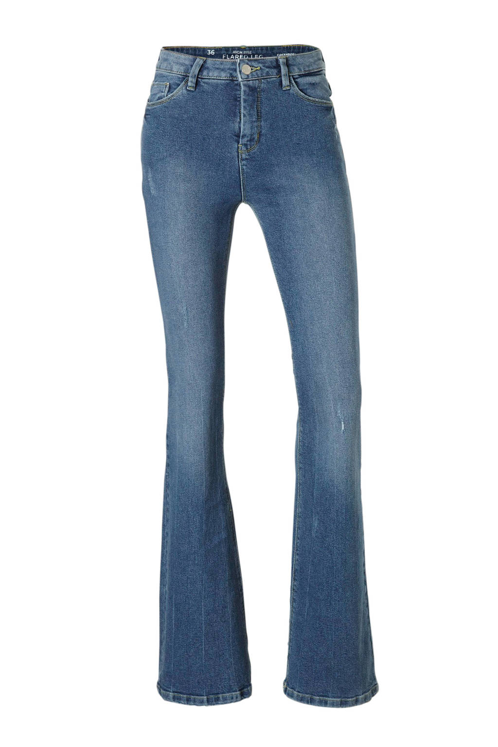 C&A Clockhouse high waist flared jeans, Stonewashed