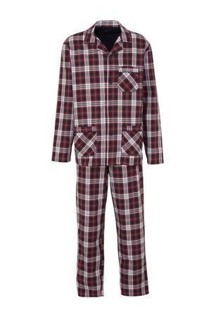 Canda geruite pyjama rood