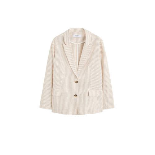 Violeta by Mango blazer met strepen beige kopen