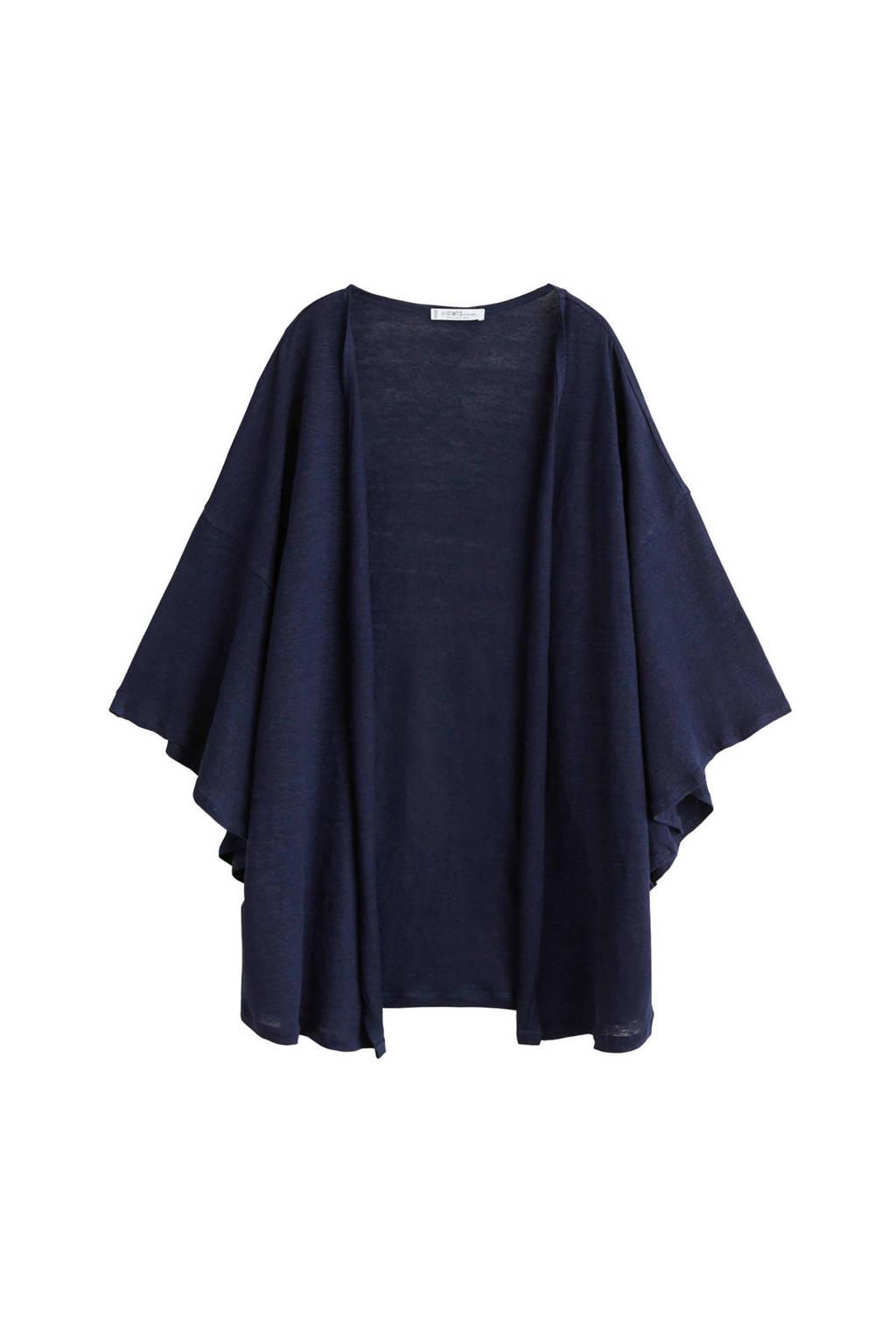 Violeta by Mango vest donkerblauw, Donkerblauw