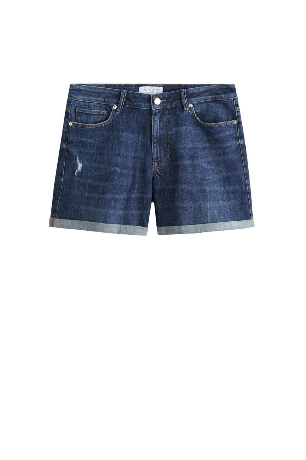 Violeta by Mango jeans short, Donkerblauw