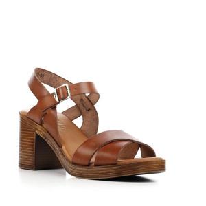 79174 leren sandalettes bruin