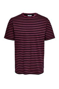 ONLY & SONS T-shirt met strepen zwart, Zwart