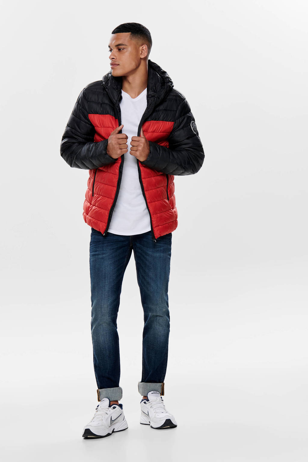 ONLY & SONS tussenjas rood, Rood